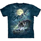 T-Shirt Wolf Night Symphony