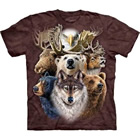 T-Shirt Northern Wildlife Collage