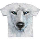 T-Shirt White Wolf Face