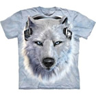 T-Shirt White Wolf DJ
