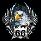 Damen-Shirt Route 66