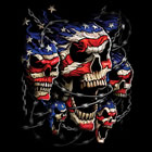 Damen-Shirt Patriotic Skull
